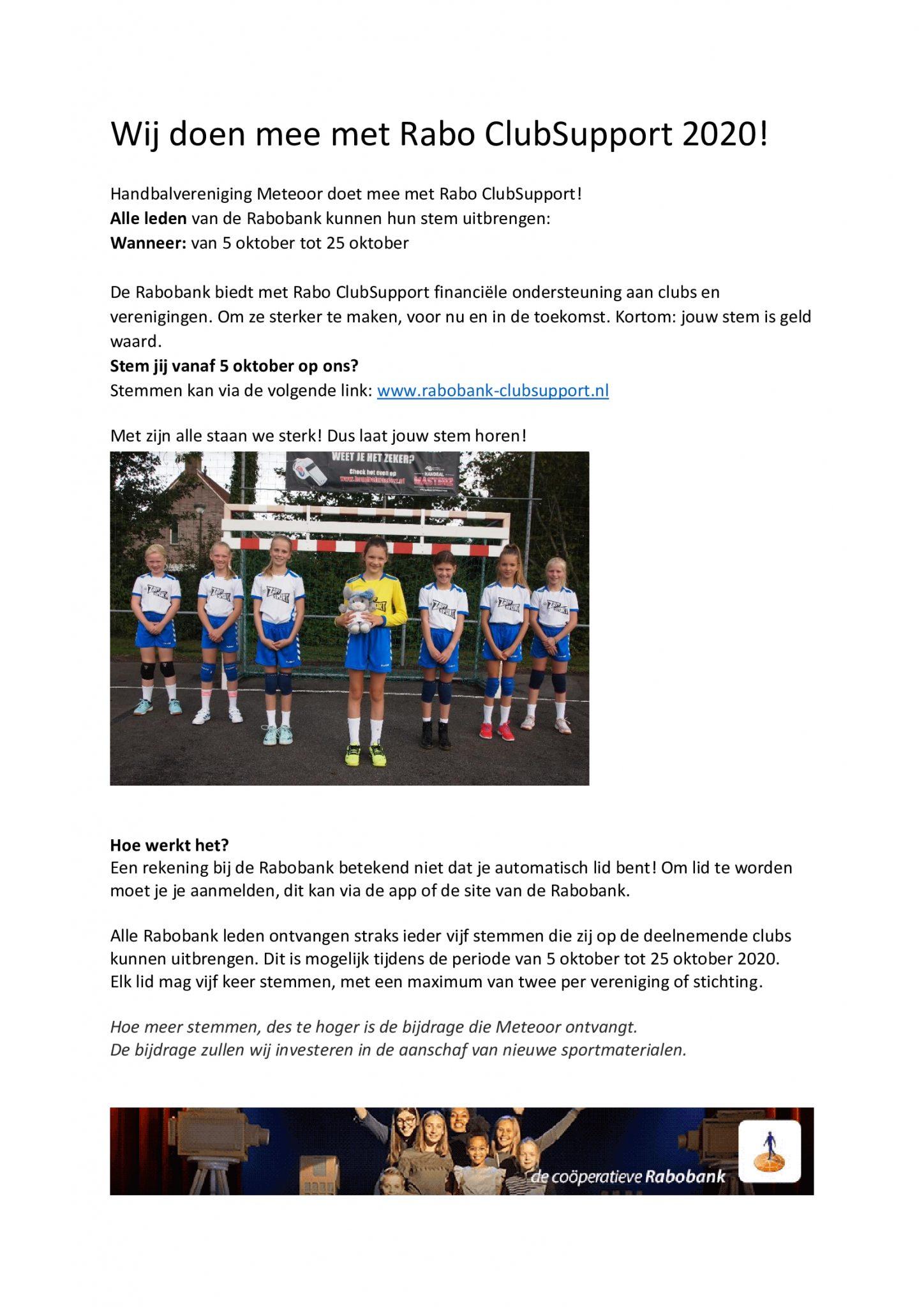 Rabo ClubSupport- Stem jij ook op ons? 1
